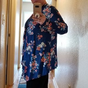 Cool Melon Sweaters - Floral Women's Plus Sized Cardigan